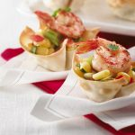 Mini-tacos aux crevettes avec salsa de maïs